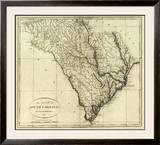 State of South Carolina, c.1796 Framed Giclee Print by John Reid