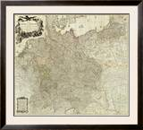 Map of the Empire of Germany, c.1790 Framed Giclee Print by Louis Stanislas D'arcy De La Rochette
