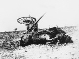 Wrecked German Ammunition Cart on the Western Front During World War I Photographic Print by Robert Hunt