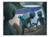 UFO Abductions Giclee Print by Michael Buhler