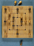 A Nine Man's Morris Board, with Pegs Photographic Print