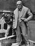 Statue of Winston Churchill Photographic Print