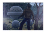 UFO Encounter Near Livingston, Scotland Giclee Print by Michael Buhler