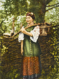 A Ukrainian Woman in Traditional Costume Photographic Print