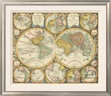 Antique World Globes Prints