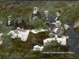 William Ewart Gladstone and His Wife Picnicking with Friends Photographic Print