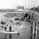Wrecked Train in the Water, Atlantic City Photographic Print