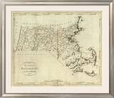 State of Massachusetts, c.1796 Framed Giclee Print by John Reid