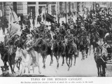 A Parade of Russian Cavalry Many of Whom Carry Flags or Lances Photographic Print by Philip Talmage