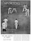The 1934 Test Match at Lords: Verity Wins the Game Photographic Print