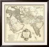 Asia I, c.1751 Framed Giclee Print by Jean Baptiste Bourguignon Anville