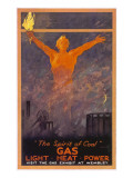 The Spirit of Coal - Gas, Light, Heat and Power (Wembley Exhibition) Giclee Print