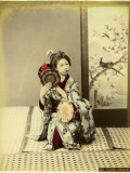 Woman in Kimono Playing Tsudzumi Photographic Print by Pump Park
