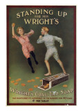 Wright's Coal Tar Soap - Standing Up for His Wright's Giclee Print