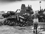 Young Traveller Amid Rubble - Manchester 1968 Photographic Print by Shirley Baker