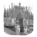 The Organ Screen, Westminster Abbey, 1848 Giclee Print