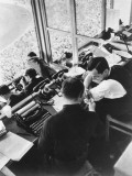 The Press Box at the Berlin Olympics, 1936 Fotografisk tryk