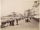 Strolling Along the Promenade at Ostende with Umbrellas - to Protect Them from the Sun Photographic Print