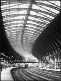 A Steam Train Entering York Railway Station, Yorkshire, England Photographic Print