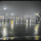 Westminster Bridge Street by Night Photographic Print