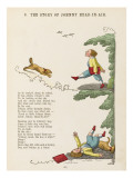 The Story of Johnny Head-In- Air Johhny Collides with a Dog Giclee Print
