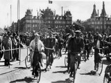 A Busy Scene in Copenhagen, Denmark, with a Lot of People Riding Bicycles Photographic Print by Vanessa Wagstaff
