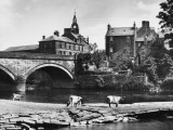 A Glimpse of Annan, Dumfries-Shire, Scotland, from across the River Annan Photographic Print