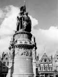 Statue of Jan Breydel, Bruges Photographic Print by Vanessa Wagstaff