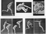 Two Shots of Naked Boys Playing Leapfrog Photographic Print