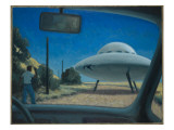 UFO Encounter Giclee Print by Michael Buhler
