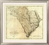 State of South Carolina, c.1795 Framed Giclee Print by Mathew Carey