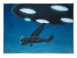 UFO Near Melbourne, Australia Giclee Print by Michael Buhler