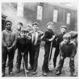 Working Class Children in Sheffield Playing in the Street Photographic Print by Henry Grant