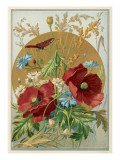 Wild Flowers: Poppies, Daisies and Cornflowers Giclee Print