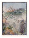 Port Royal, Jamaica Earthquake, 1692, Giclee Print