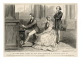 Felix Mendelssohn Listens to Prince Albert Play the Organ Giclee Print