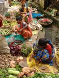 Street Market at Matiari, West Bengal, India Photographic Print