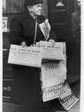 A Woman Sells the Evening Standard Newspaper Announcing the Death of King George Vi Photographic Print