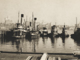 Tugs and Brooklyn from Lower Manhattan, New York, America Photographic Print