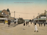 Train on King William Street, Adelaide, South Australia, 1900s Photographic Print