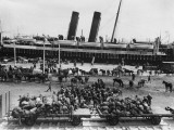 The Middlesex Yeomanry Disembarking from the Nile Transport at Alexandria During World War I Photographic Print by Robert Hunt