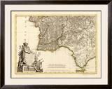 Portugal, Algarve Meridionale, c.1780 Framed Giclee Print by Giovanni Antonio Bartolomeo Rizzi Zannoni