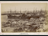 A View of the Docks at Marseille - Full of Sacks and Barrels Photographic Print
