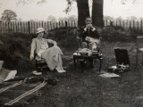 A Couple on a Very Serious Picnic Photographic Print by Vanessa Wagstaff