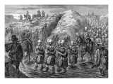 Zulu War Evacuation Giclee Print