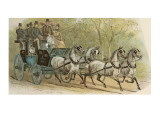 The Private Coach of the Marquis of Waterford, a Prominent Figure in the Coaching Revival Giclee Print