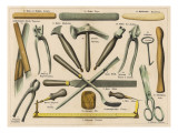 Various Tools Used by a Shoemaker or Cobbler Giclee Print