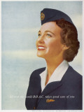 B.O.A.C Air Stewardess 1956 Photographic Print
