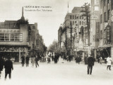 Yokohama, Japan - Isesakicho-Dori Street. Note the Complete Lack of Cars, Even at This Date Photographic Print