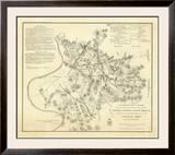 Civil Wat Battlefields In Front of Nashville, c.1866 Framed Giclee Print by M. Peseux